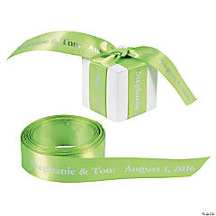 Personalized Lime Green Ribbon - 7/8