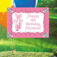 Personalized Little Ballerina Birthday Yard Sign