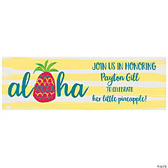 Personalized Little Pineapple Banner - Small