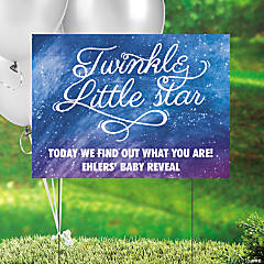 Personalized Little Star Gender Reveal Yard Sign