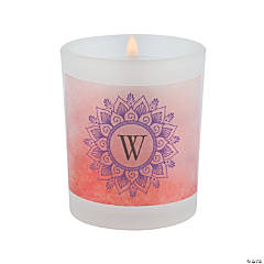 Personalized Lotus Monogram Wedding Votive Holders