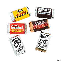 Personalized Love at First Bite Mini Candy Bar Sticker Labels