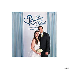 Personalized Love is Patient Backdrop Banner