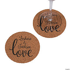 Personalized Love Script Coasters