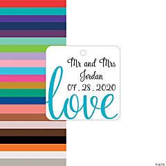 Personalized Love Script Favor Tags