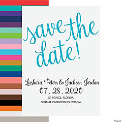 Personalized Love Script Save-the-Date Cards