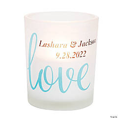 Personalized Love Script Votive Holders