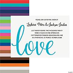 Personalized Love Script Wedding Invitations