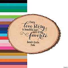 Personalized Love Story Basswood Slice