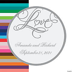 "Personalized ""Love"" Wedding Favor Stickers"