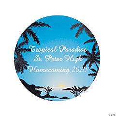 Personalized Luau Theme Favor Stickers