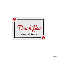 Personalized Lucky in Love Thank You Cards