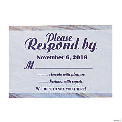 Personalized Marble Pattern Response Cards