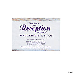 Personalized Marble Wedding Reception Cards