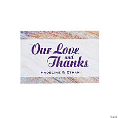 Personalized Marble Wedding Thank You Cards