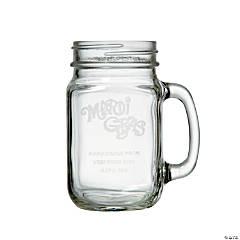 Personalized Mardi Gras Mason Jar Mug