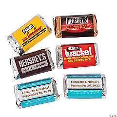 Personalized Marquee Wedding Mini Candy Bar Sticker Labels