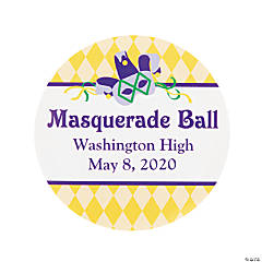 Personalized Masquerade Theme Favor Stickers