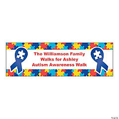 Personalized Medium Autism Awareness Vinyl Banner
