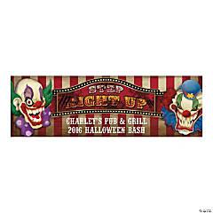 Personalized Medium Big Top Terror Vinyl Banner Halloween Décor