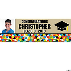Personalized Medium Bold Graduation Vinyl Banner