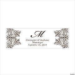 Personalized Medium Chocolate Brown Monogram Script Banner
