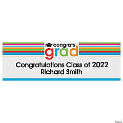 "Personalized Medium ""Congrats Grad"" Vinyl Banner"