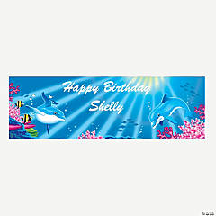 Personalized Medium Dolphin Vinyl Banner