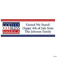 Personalized Medium God Bless America Vinyl Banner