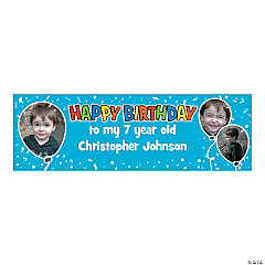 Personalized Medium Happy Birthday Vinyl Banner
