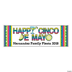 Personalized Medium Happy Cinco De Mayo Vinyl Banner