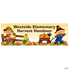 Personalized Medium Harvest Hoedown Vinyl Banner