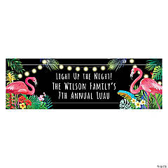Personalized Medium Hibiscus Wave Vinyl Banner