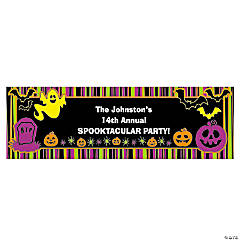 Personalized Medium Iconic Halloween Vinyl Banner
