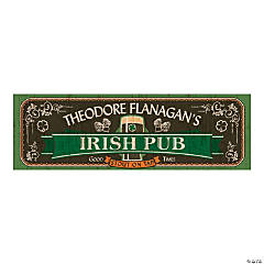Personalized Medium Irish Pub Vinyl Banner