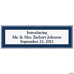Personalized Medium Nautical Wedding Banner