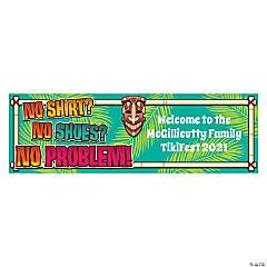 Personalized Medium No Problem Vinyl Banner