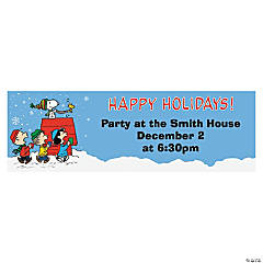 Personalized Medium Peanuts® Christmas Vinyl Banner