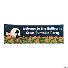 Personalized Medium Peanuts® Great Pumpkin Vinyl Banner