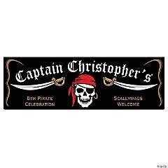 Personalized Medium Pirate Vinyl Banner