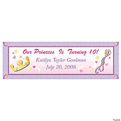 Personalized Medium Princess Vinyl Banner