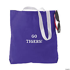 Personalized Medium Purple Tote Bags