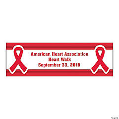 Personalized Medium Red Awareness Ribbon Banner