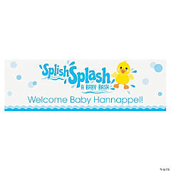 Personalized Medium Rubber Ducky Vinyl Banner