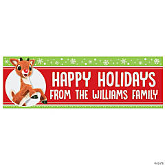 Personalized Medium Rudolph the Red-Nosed Reindeer<sup>&#174;</sup> Vinyl Banner