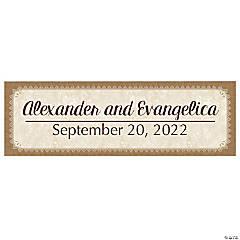 Personalized Medium Rustic Wedding Vinyl Banner
