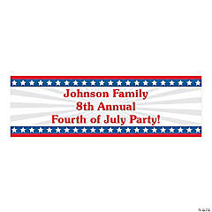 Personalized Medium Stars & Stripes Vinyl Banner