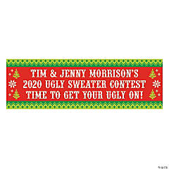 Personalized Medium Ugly Sweater Vinyl Banner