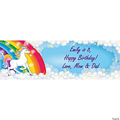 Personalized Medium Unicorn Vinyl Banner