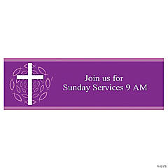 "Personalized Medium ""Welcome To Our Church"" Banner"